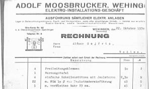1930-Rechnung